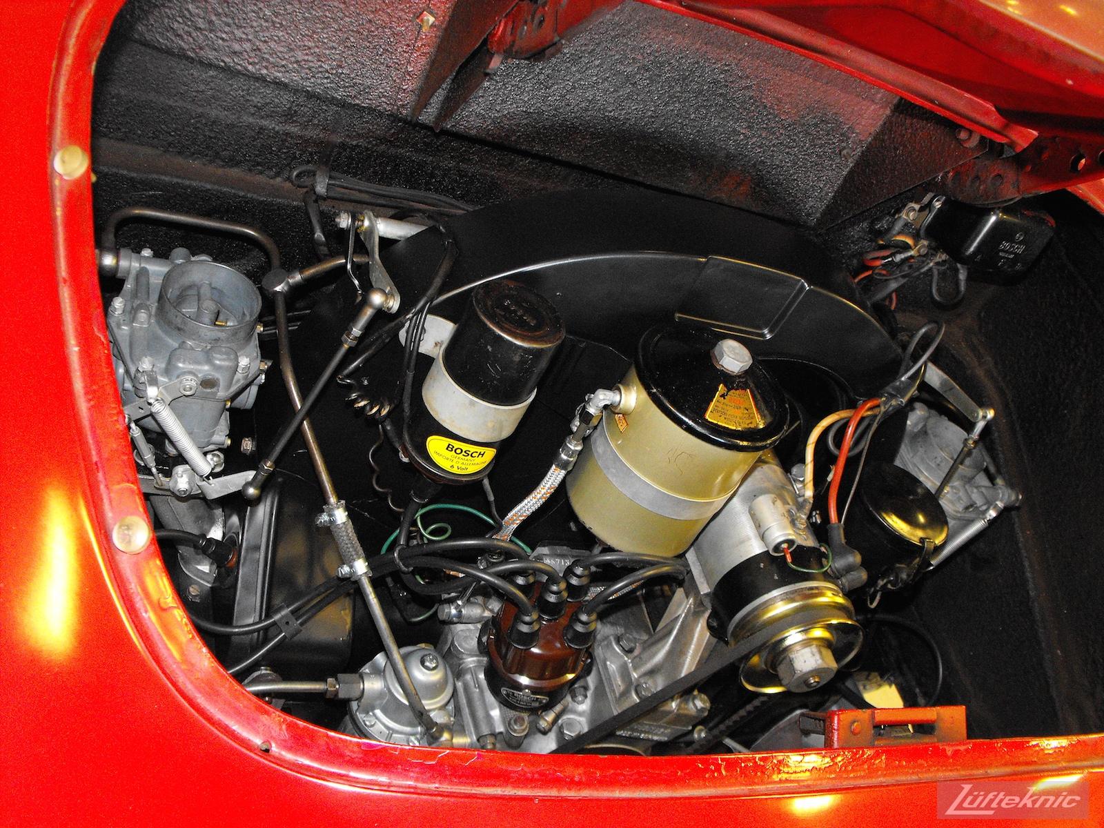 Rebuilt engine installed in a 1961 Porsche 356B Roadster restoration.