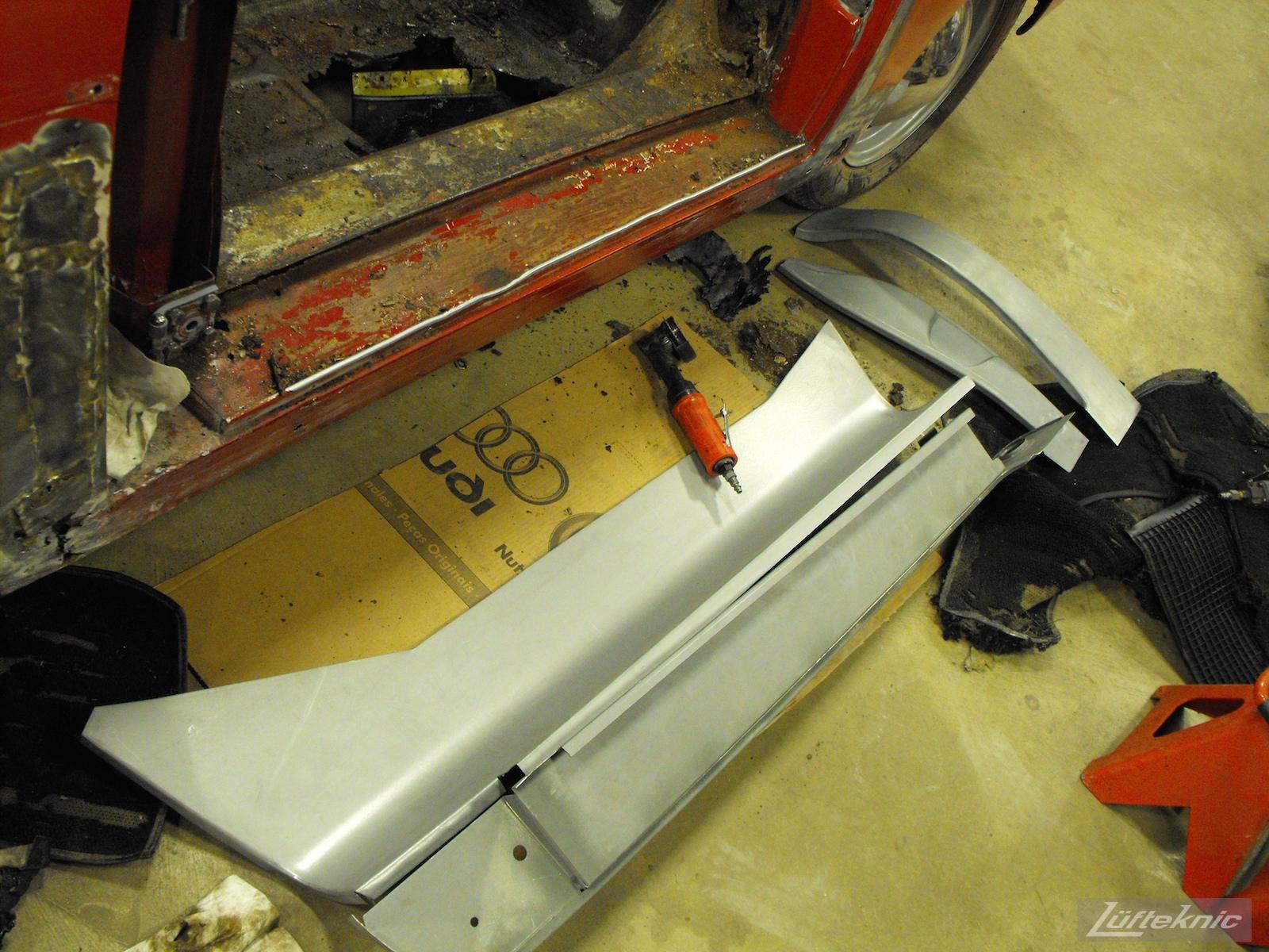 Repair panels for a 1961 Porsche 356B Roadster restoration.