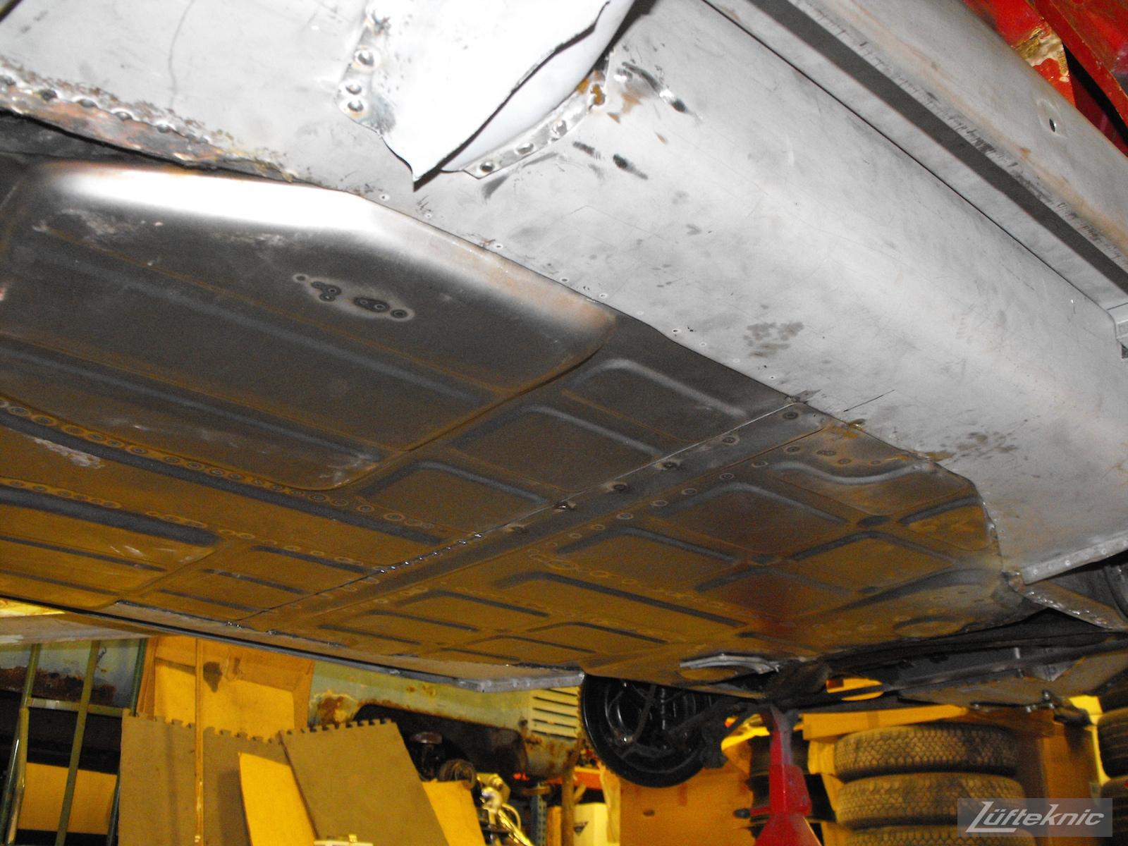 New floors installed into a 1961 Porsche 356B Roadster restoration.