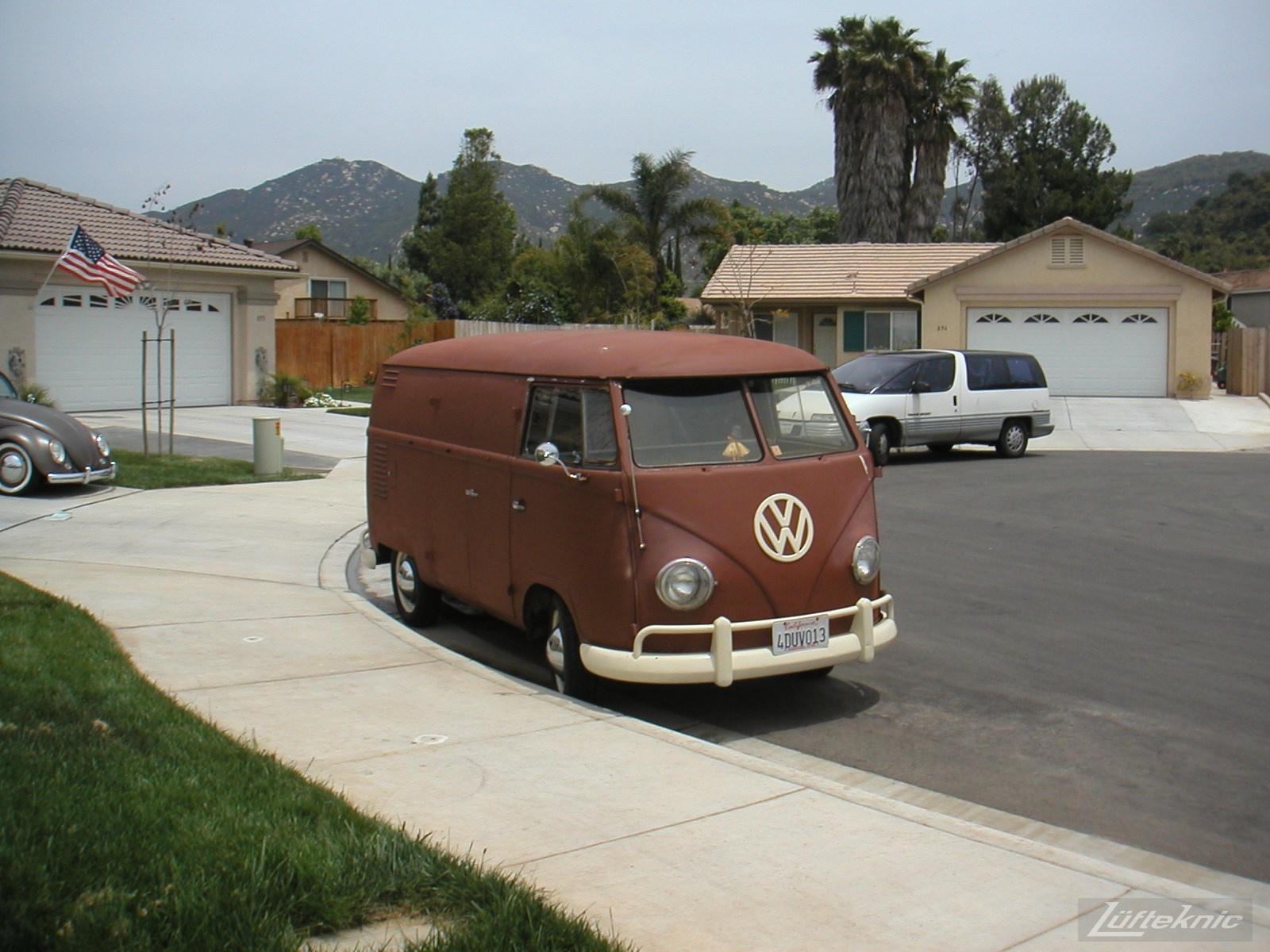 1956 Volkswagen double panel Transporter.