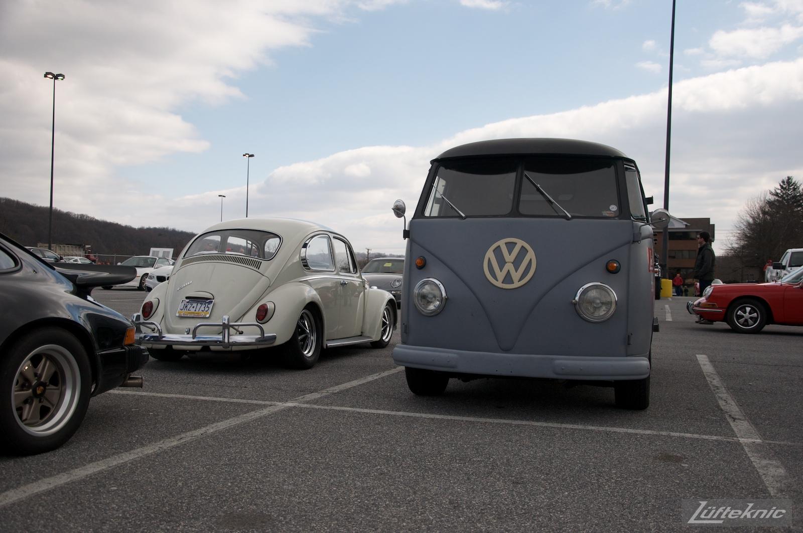 1956 Volkswagen double panel Transporter Lüfteknic Porsche Bus.