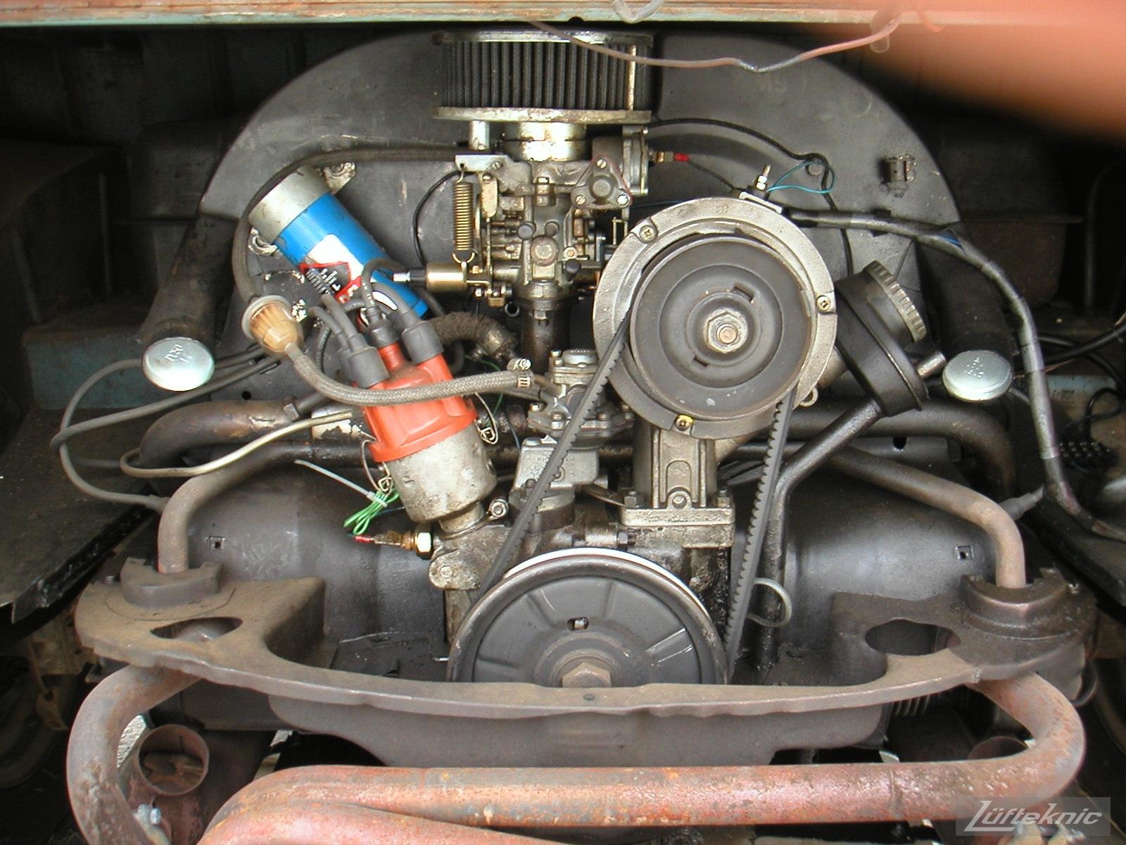 1956 Volkswagen double panel Transporter engine.
