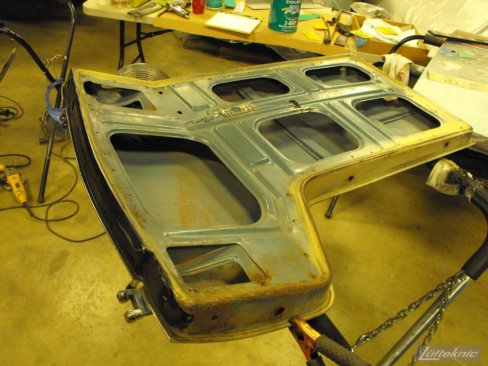 1956 Volkswagen double panel Transporter Porsche Bus door repair.