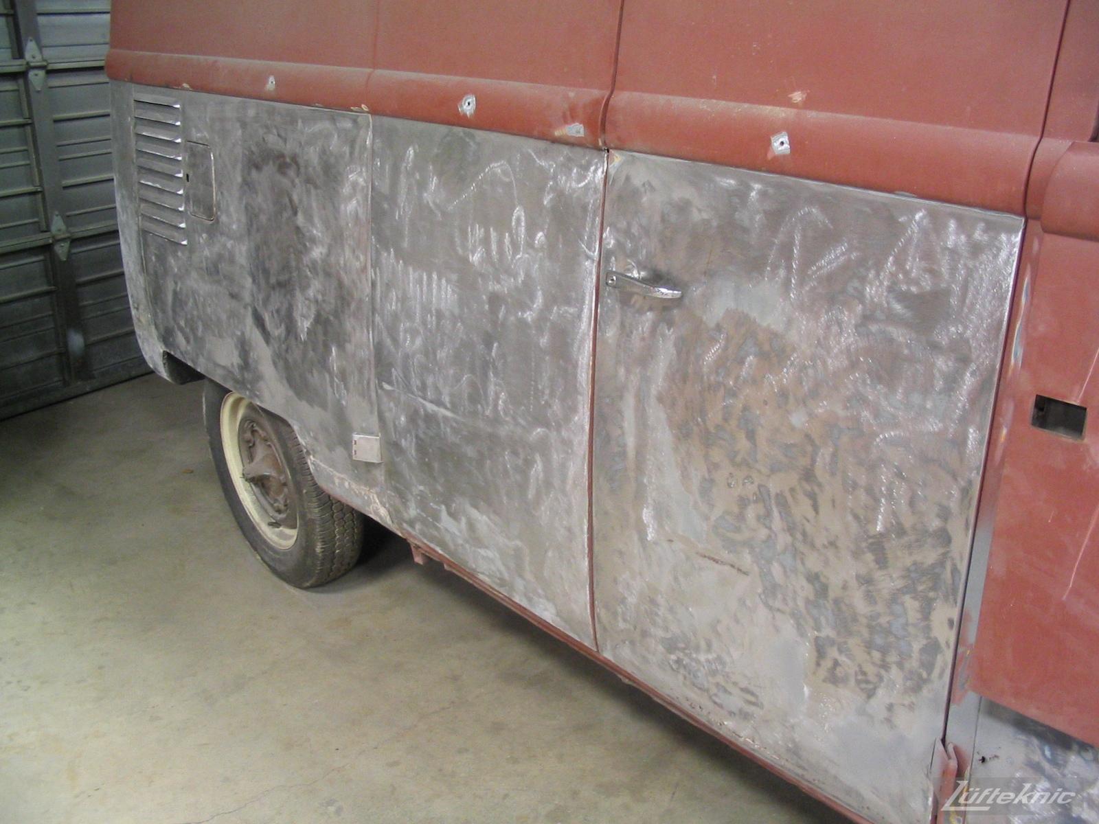 1956 Volkswagen double panel Transporter Porsche bus body work.