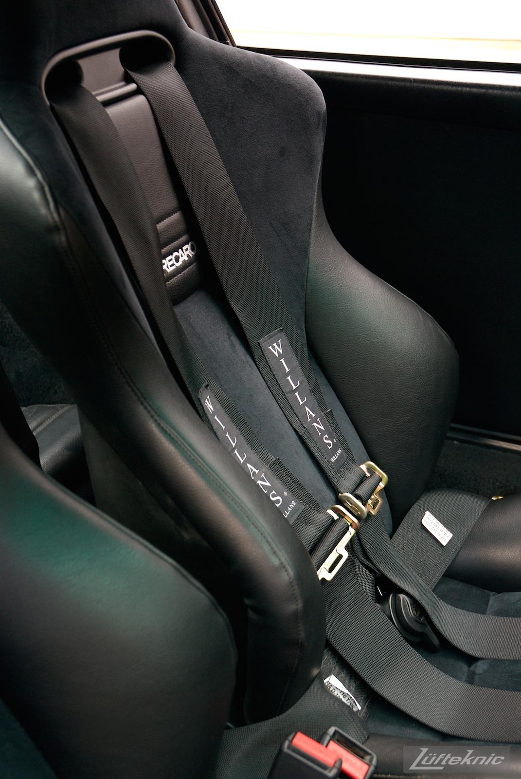 Recaro seat with Willans harness.
