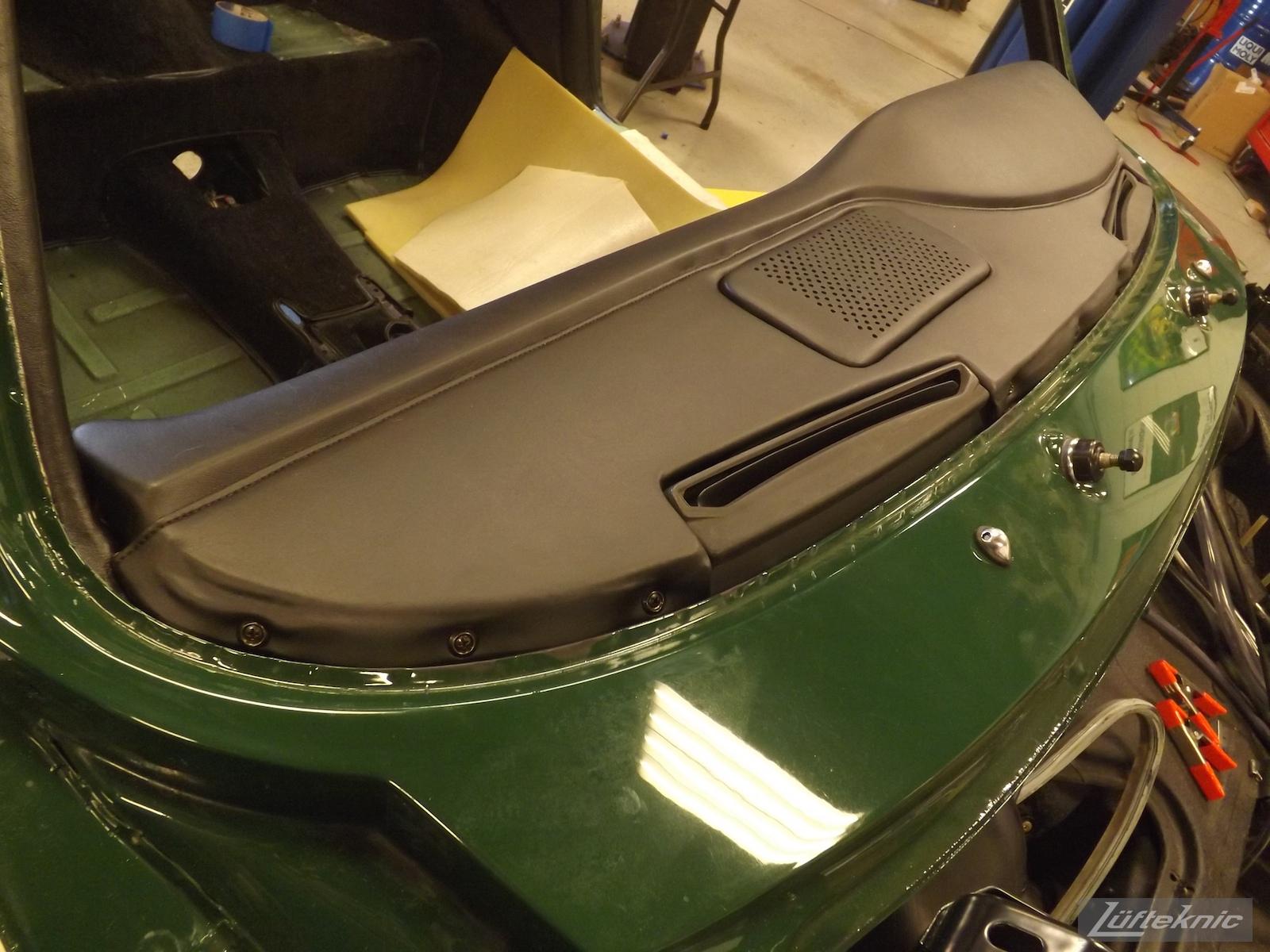 Installed new dash board on an Irish Green Porsche 912 undergoing restoration at Lufteknic.