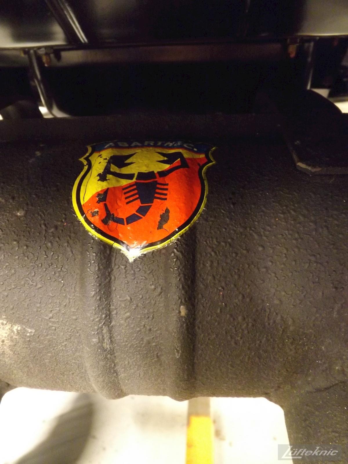 Abarth muffler detail for an Irish Green Porsche 912 undergoing restoration at Lufteknic.