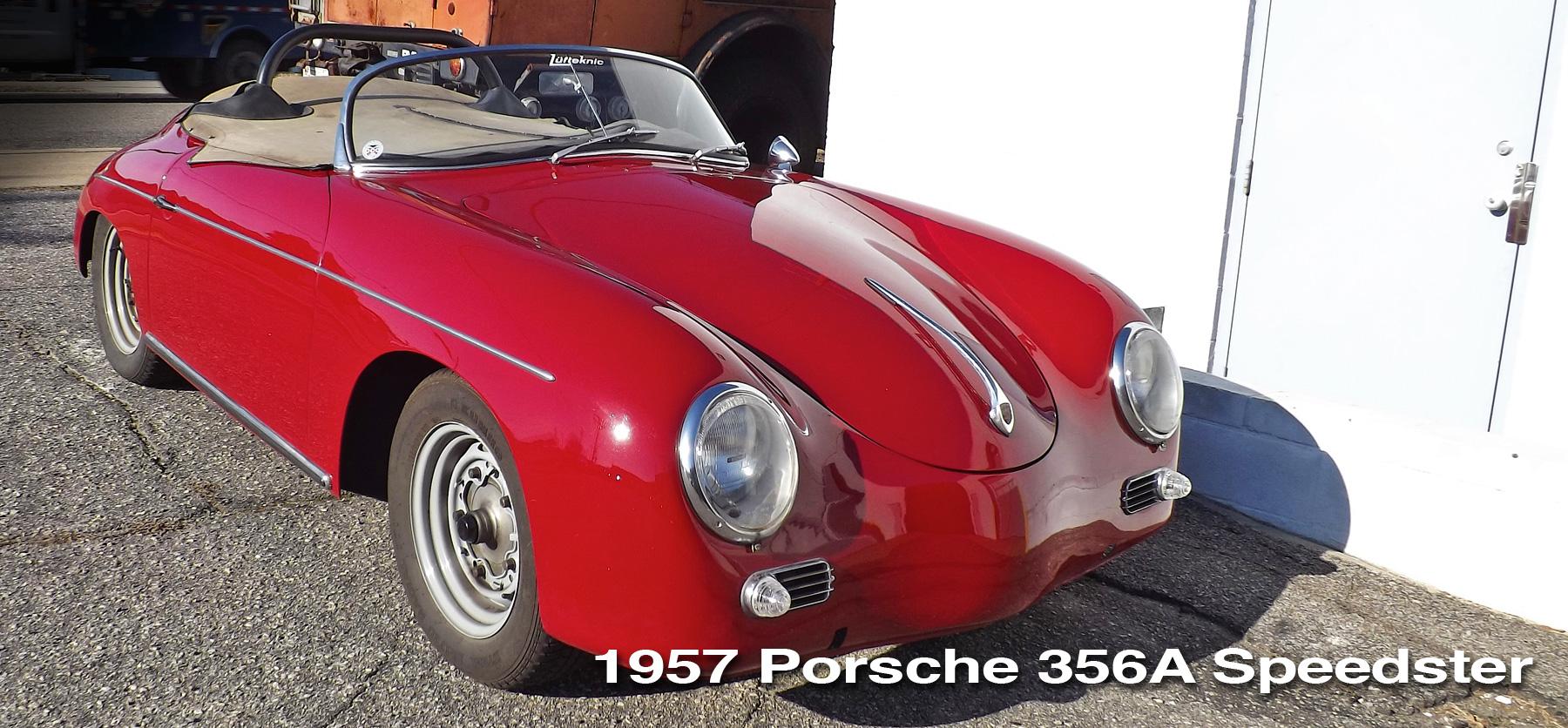 Red 1957 Porsche 356A Speedster header image