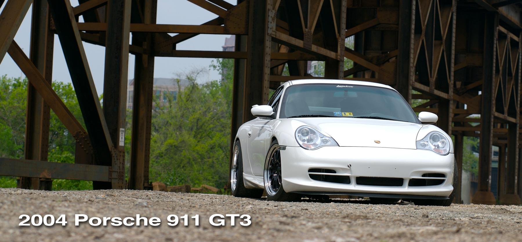 White 996 Porsche Gt3 header image.