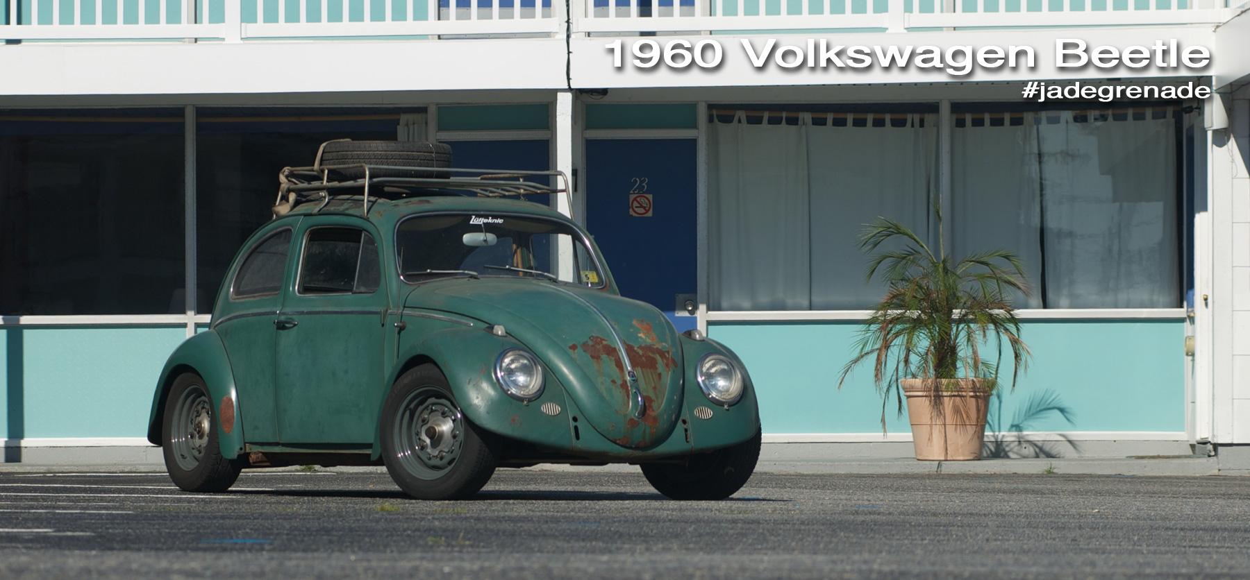 Green 1960 rag top beetle.