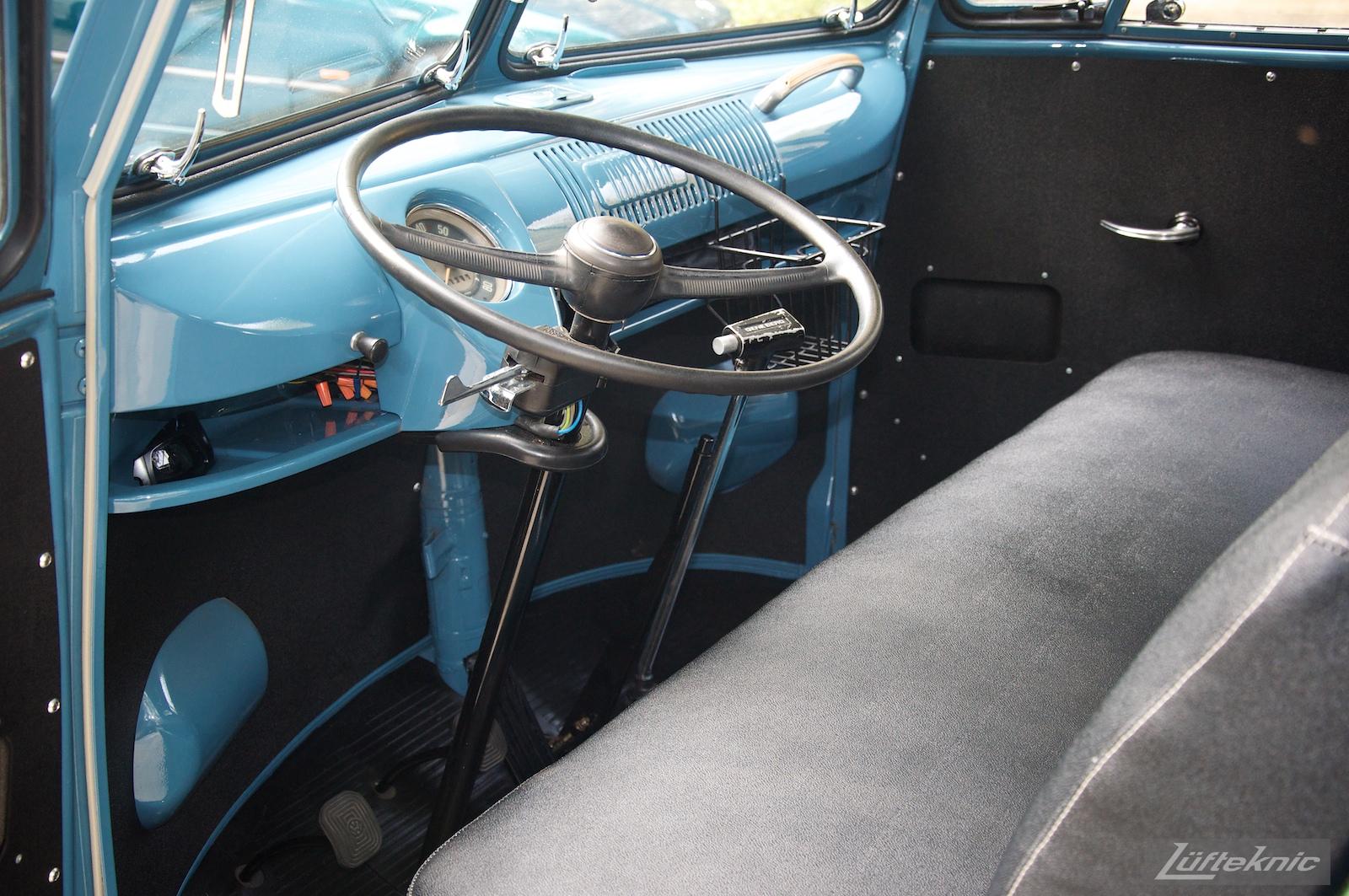Dove Blue single cab VW Transporter with Lufteknic graphics.
