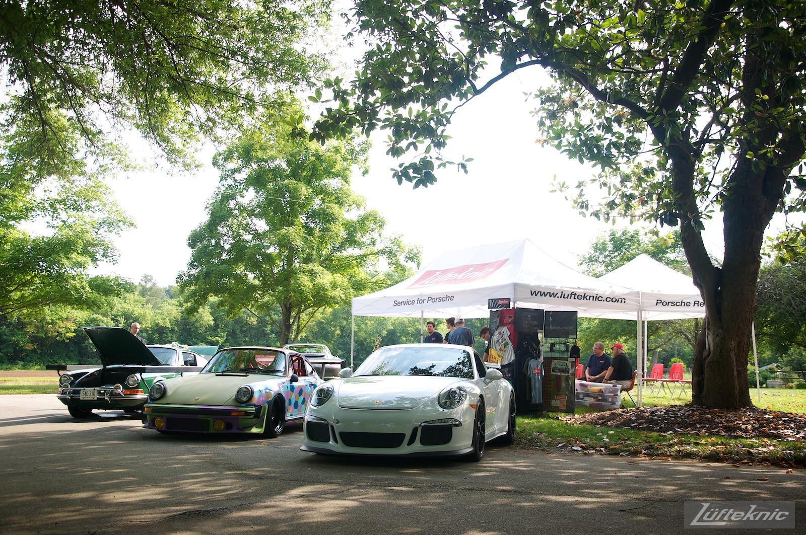 Lufteknic booth at the Richmond Porsche Meet.