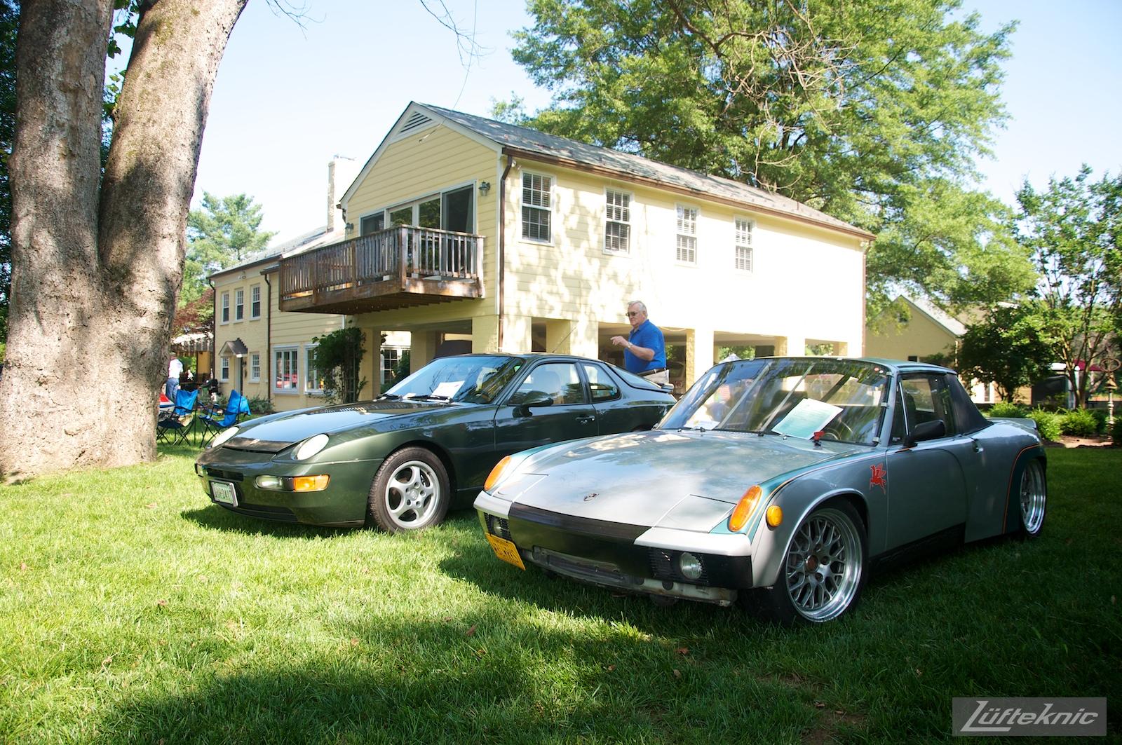 A 914 and 968 at the Richmond Porsche Meet.