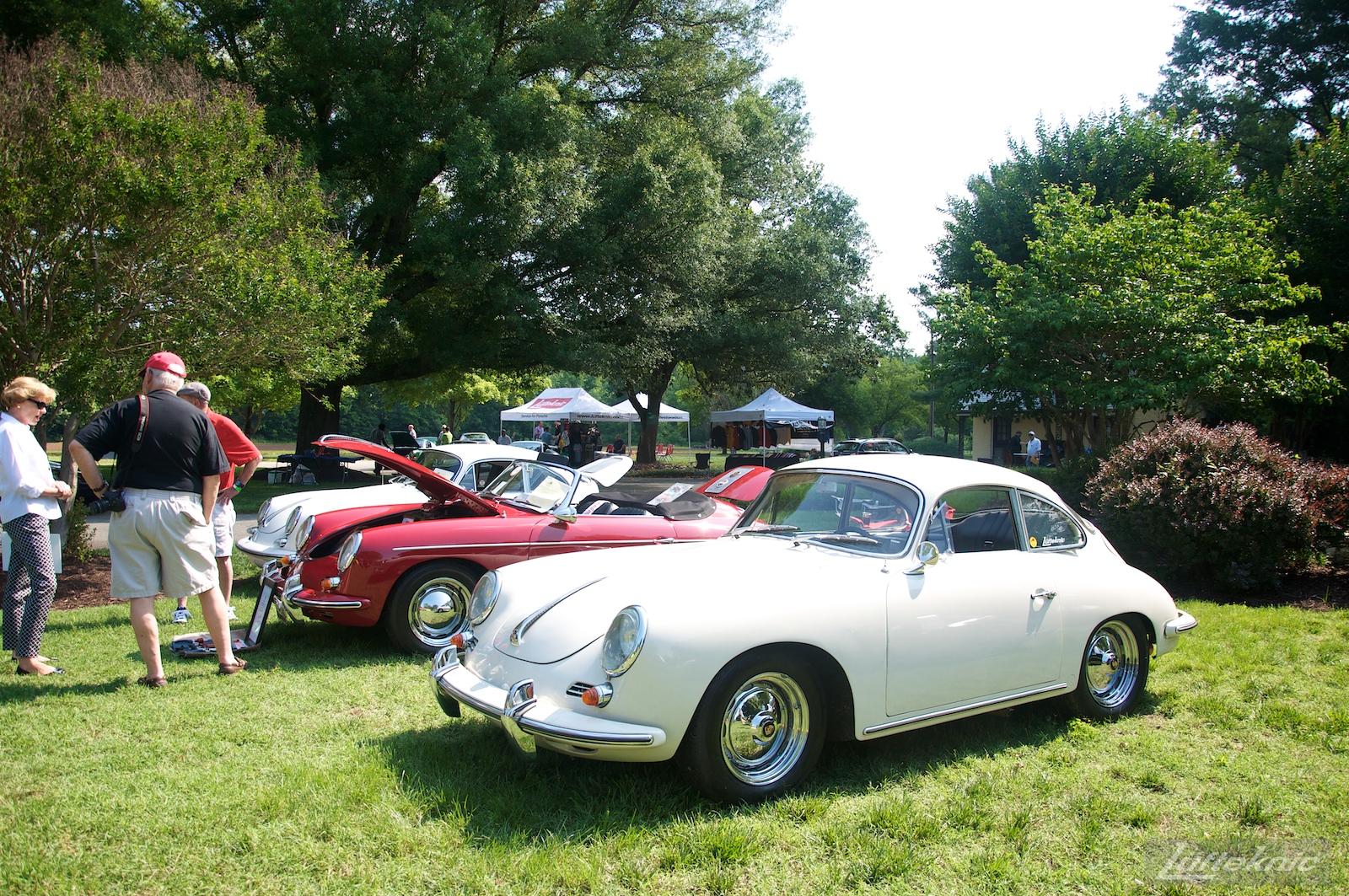 White 356SC at the Richmond Porsche Meet.