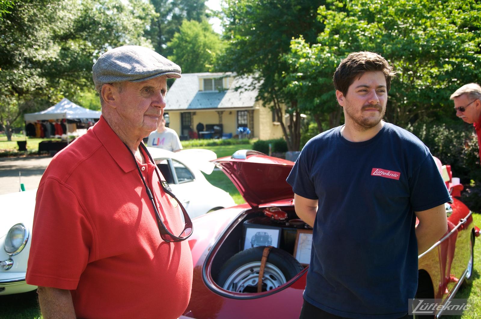 Dick Pitman and Garrett from Lufteknic at the Richmond Porsche Meet.