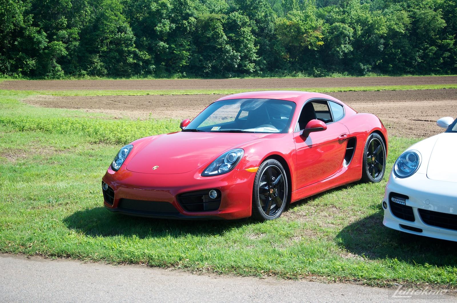 Red Cayman at the Richmond Porsche Meet.