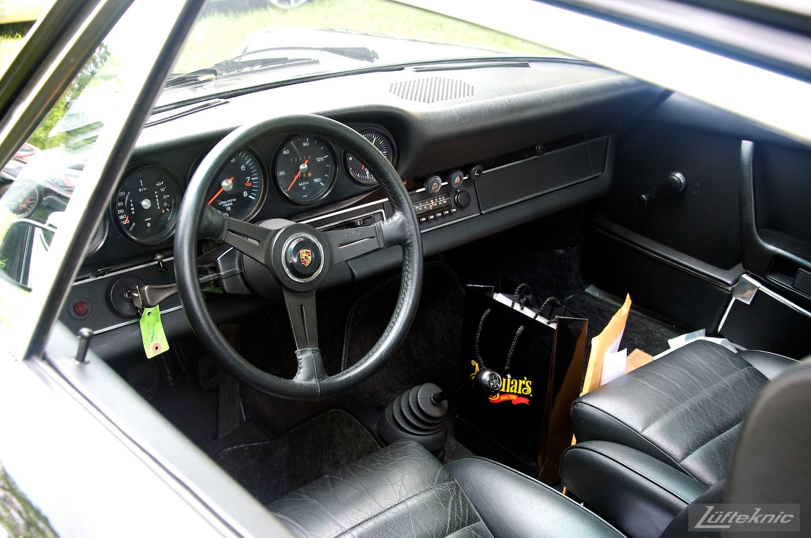 Blakc 911S at the Richmond Porsche Meet.