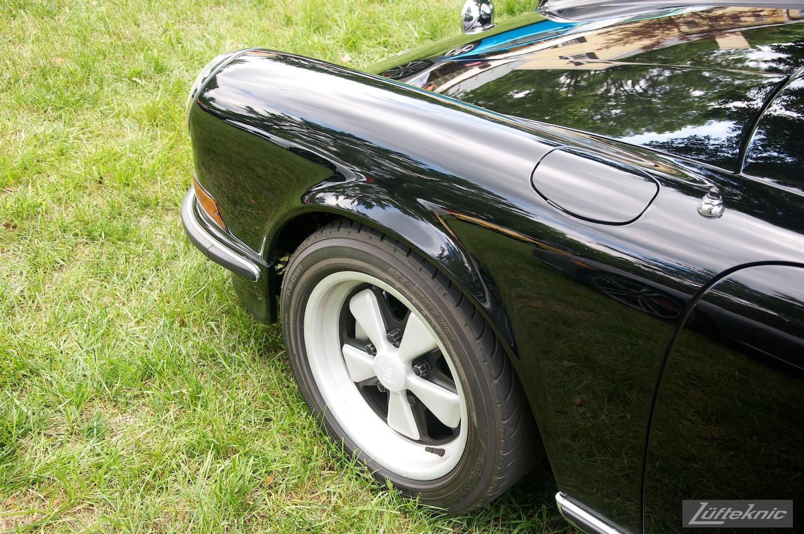 Black 911S at the Richmond Porsche Meet.