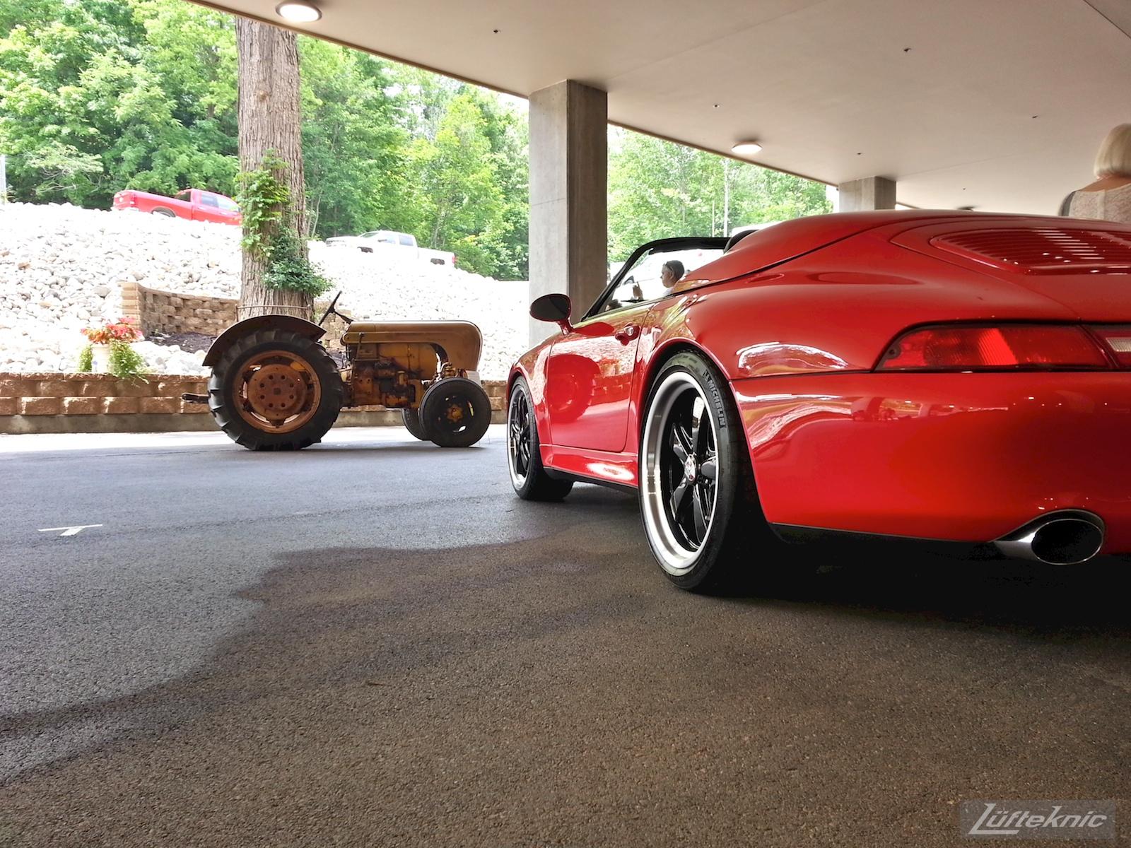 A Porsche tractor and 993.