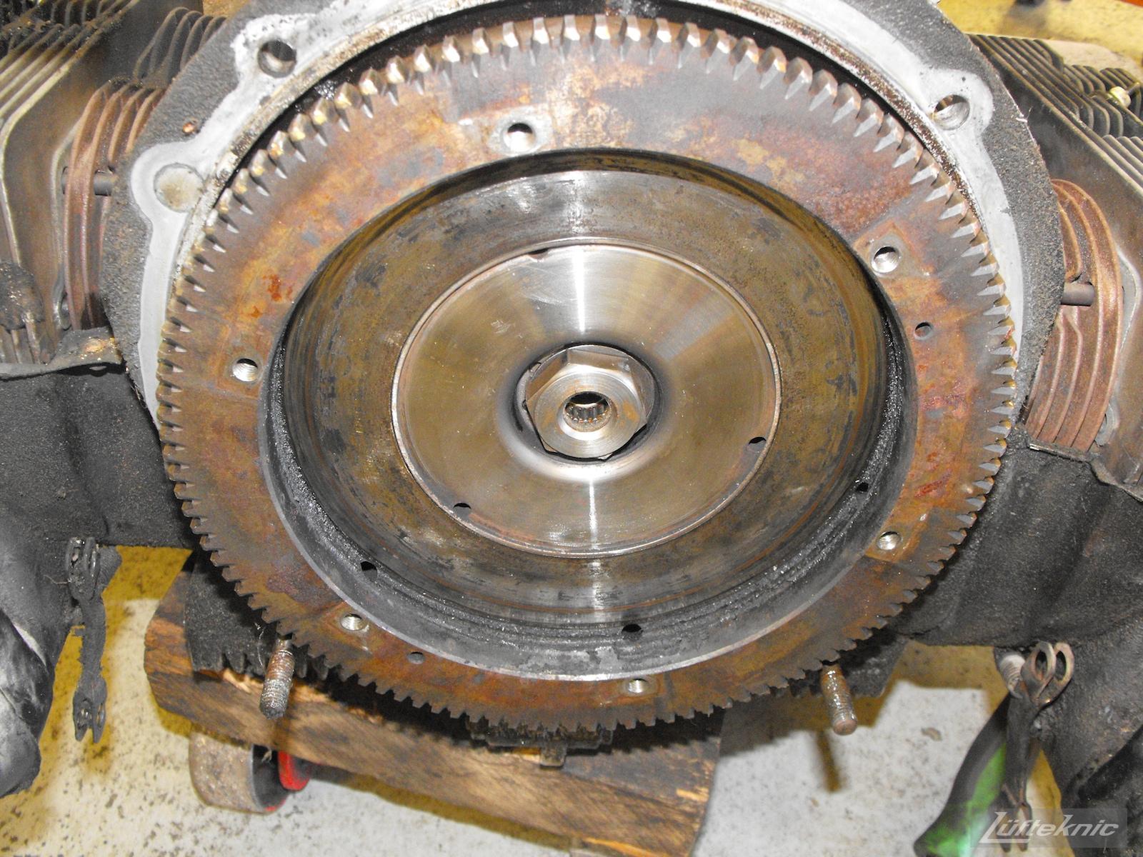 Flywheel for a 1964 Porsche 356SC restoration.