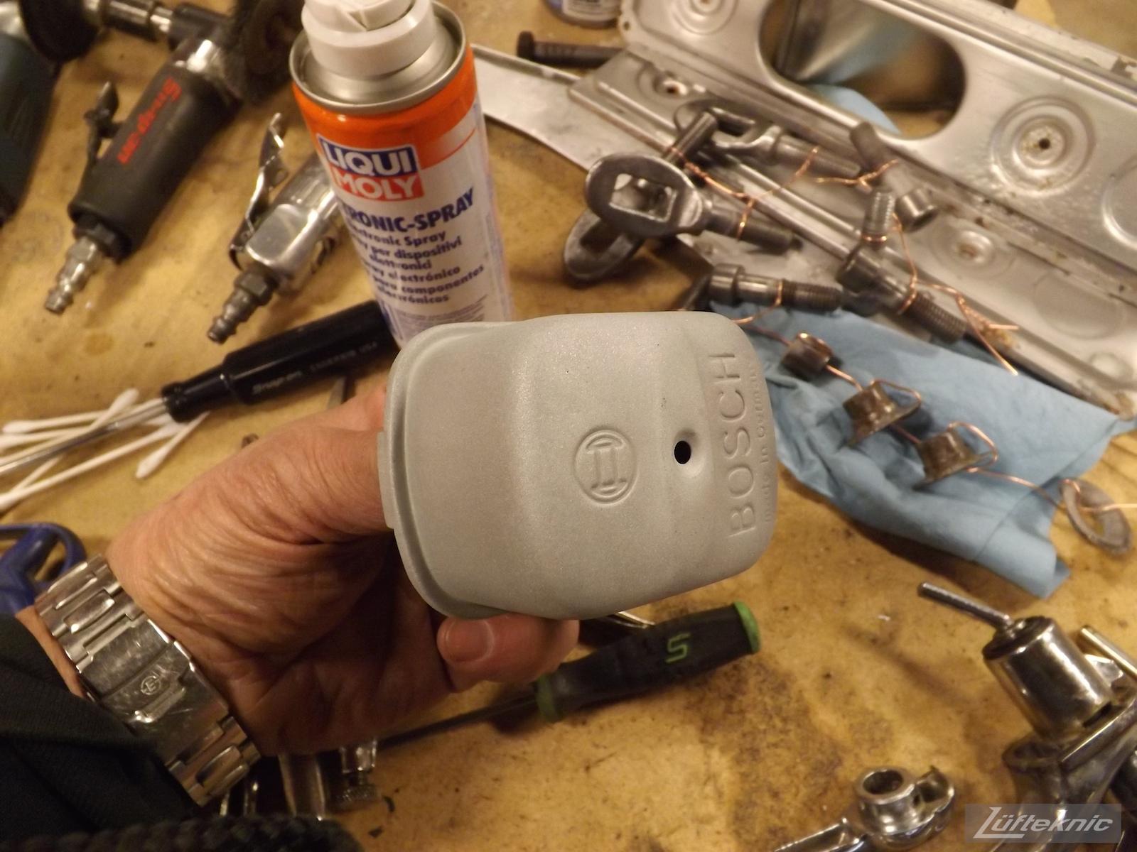 Parts detail on a1964 Porsche 356SC restoration.