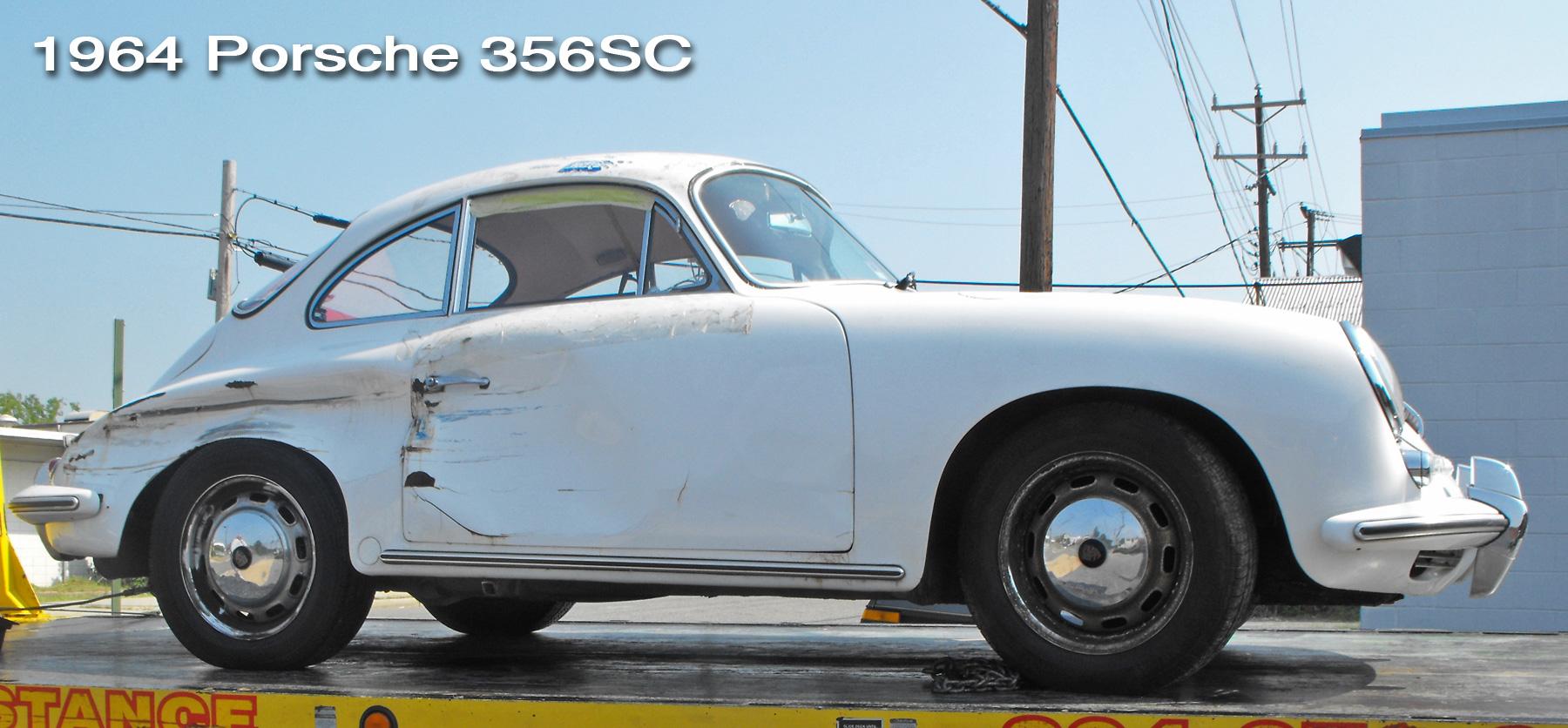1964 Porsche 356SC restoration header.