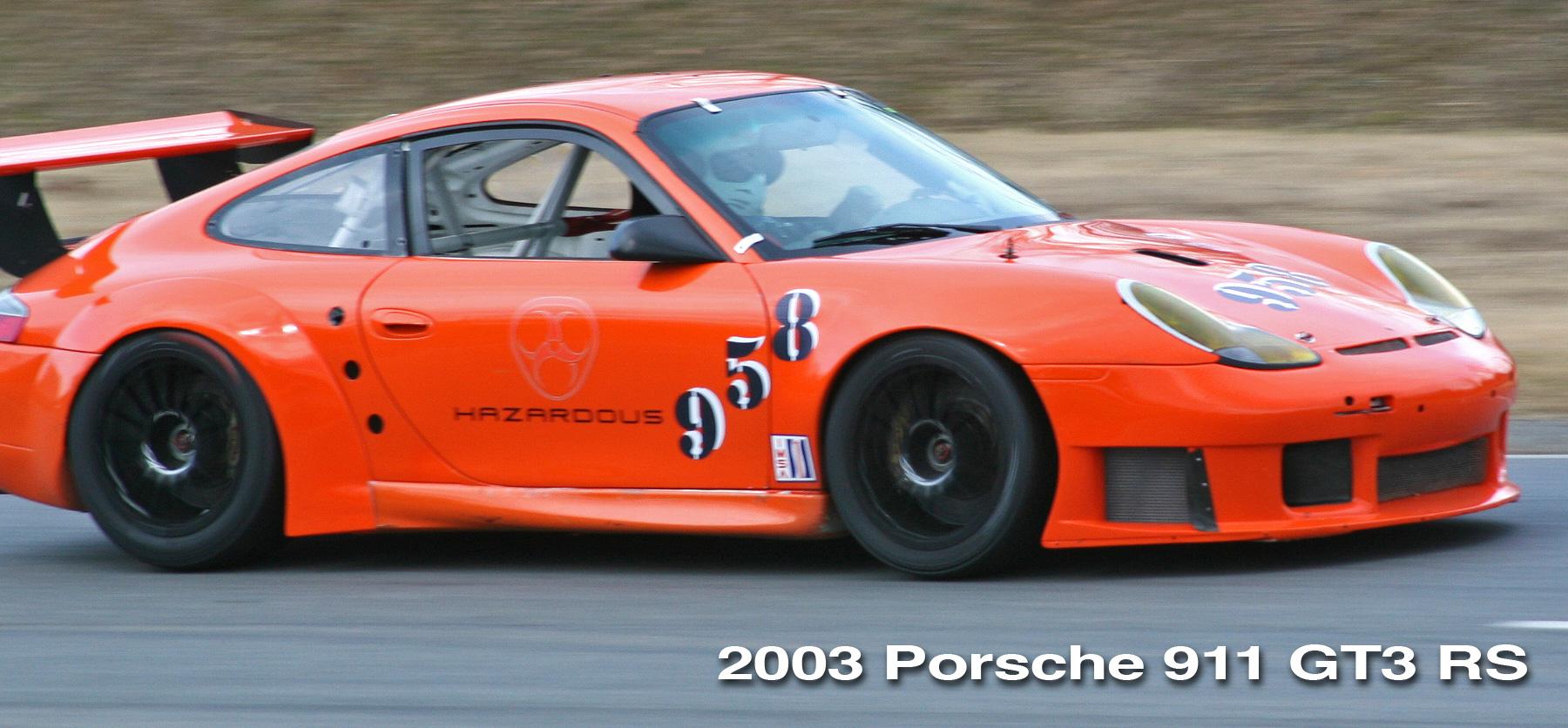 2003 Porsche 911 GT3RS race car header image